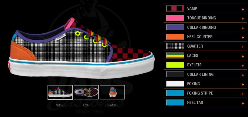 design your own Vans shoes