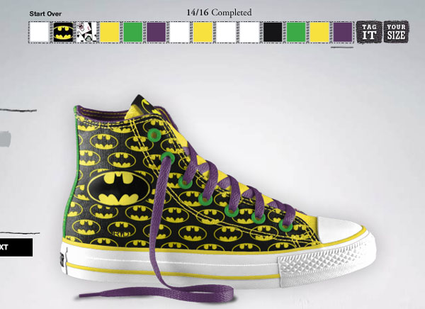If you do not have any idea to design your own Batman Converse, check