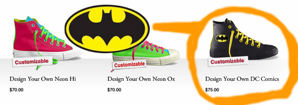 custom Batman Converse