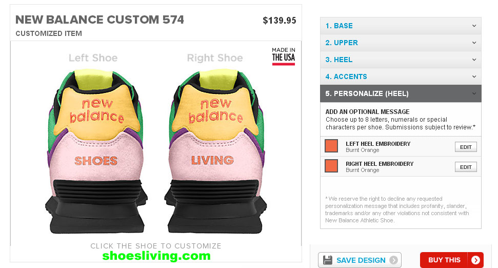 customize new balance sneakers