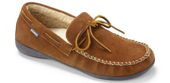 Vionic Dewey Mens Indoor Outdoor Slipper Moccasin