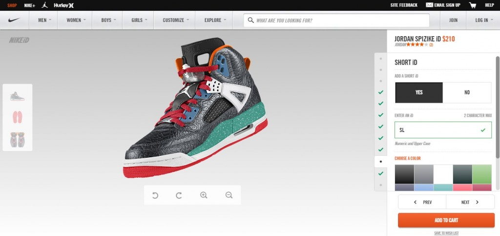customize Air Jordan Spizike