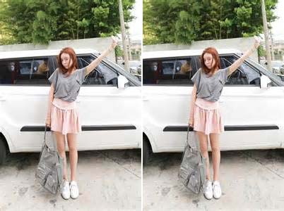 white shoes pink skirt grey top
